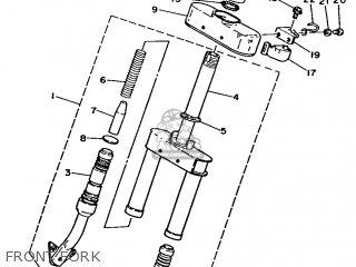 Yamaha Ma50m 1992 2fv England 262fv-310e1 Front Fork