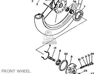 Yamaha Ma50m 1992 2fv England 262fv-310e1 Front Wheel