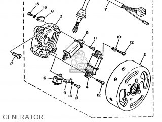 Yamaha Ma50m 1992 2fv England 262fv-310e1 Generator