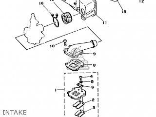 Yamaha Ma50m 1992 2fv England 262fv-310e1 Intake