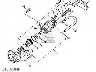 Yamaha Ma50m 1992 2fv England 262fv-310e1 Oil Pump