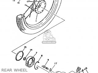 Yamaha Ma50m 1992 2fv England 262fv-310e1 Rear Wheel