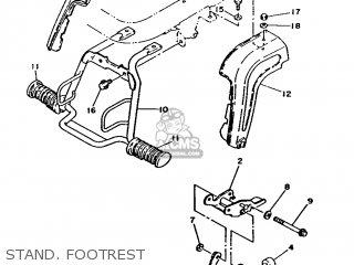 Yamaha Ma50m 1992 2fv England 262fv-310e1 Stand  Footrest