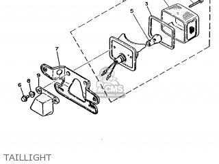 Yamaha Ma50m 1992 2fv England 262fv-310e1 Taillight