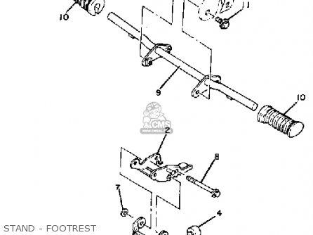 Yamaha Mj5oj Usa Stand - Footrest