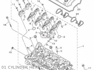 Yamaha Mtn1000 Mt10 2016 B671 Europe 1rb67-300e1 01 Cylinder Head