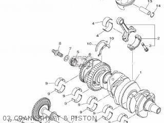Yamaha Mtn1000 Mt10 2016 B671 Europe 1rb67-300e1 03 Crankshaft  Piston