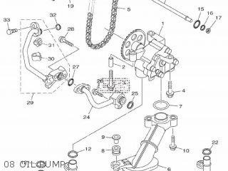 Yamaha Mtn1000 Mt10 2016 B671 Europe 1rb67-300e1 08 Oil Pump