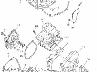 Yamaha Mtn1000 Mt10 2016 B671 Europe 1rb67-300e1 16 Crankcase Cover 1