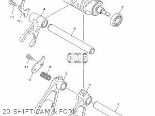 Yamaha Mtn1000 Mt10 2016 B671 Europe 1rb67-300e1 20 Shift Cam  Fork