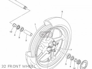 Yamaha Mtn1000 Mt10 2016 B671 Europe 1rb67-300e1 32 Front Wheel