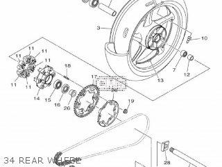 Yamaha Mtn1000 Mt10 2016 B671 Europe 1rb67-300e1 34 Rear Wheel