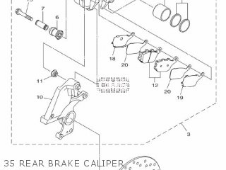Yamaha Mtn1000 Mt10 2016 B671 Europe 1rb67-300e1 35 Rear Brake Caliper