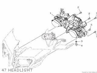 Yamaha Mtn1000 Mt10 2016 B671 Europe 1rb67-300e1 47 Headlight