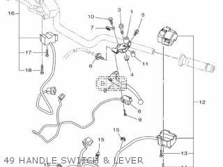 Yamaha Mtn1000 Mt10 2016 B671 Europe 1rb67-300e1 49 Handle Switch  Lever