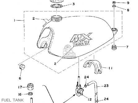 yamaha mx175 1979 usa canada parts list partsmanual partsfiche