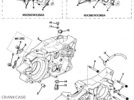 Yamaha MX250 1974 USA parts lists and schematics on