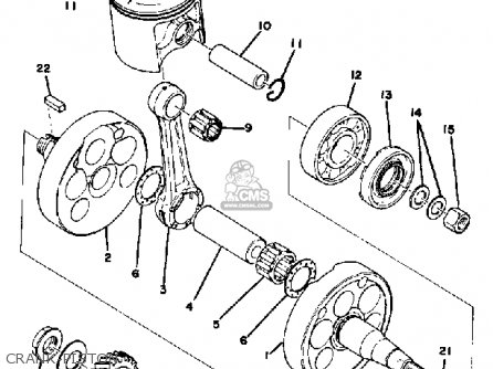 Yamaha Mx400 1975 Usa Crank-piston
