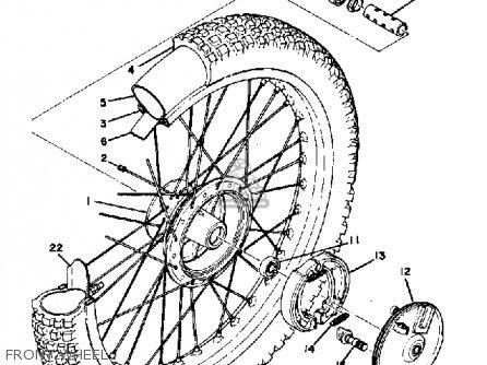 Yamaha Mx400 1975 Usa Front Wheel
