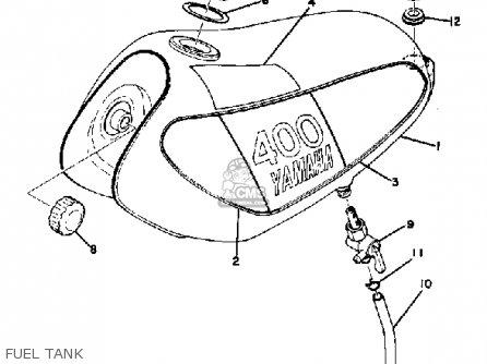 Yamaha Mx400 1975 Usa Fuel Tank