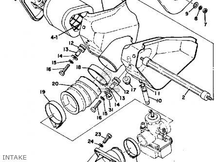 Yamaha Mx400 1975 Usa Intake