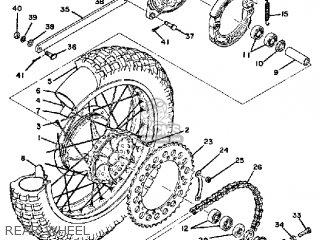 Yamaha Mx400 1975 Usa Rear Wheel