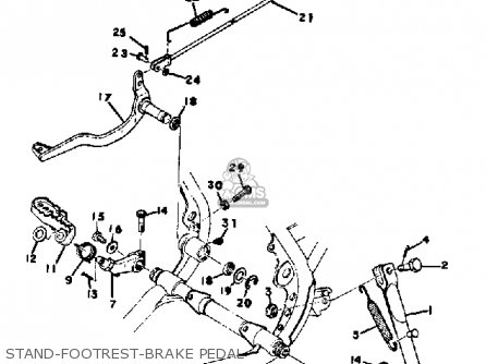 Yamaha Mx400 1975 Usa Stand-footrest-brake Pedal