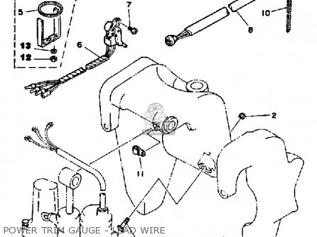 Diagram 1988 Yamaha Power Trim Tilt Parts Diagram Schematic Circuit