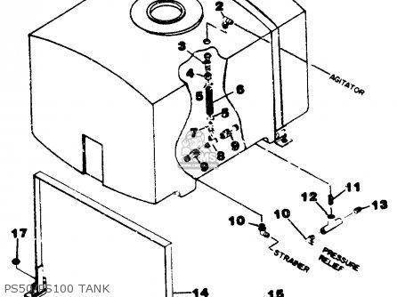 Yamaha Ps50 ps100 b15 b24 Moto-4 1987 Ps50 ps100 Tank