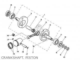 yamaha pw50 2000 3ptx sweden 103pt-300ea crankshaft  piston  crankshaft   piston  yamaha pw50 2000