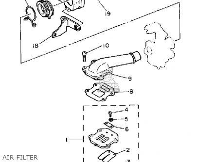 yamaha pw50 yzinger 1991  m  usa parts list partsmanual