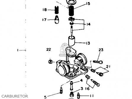 yamaha pw50 yzinger 1993  p  usa parts list partsmanual