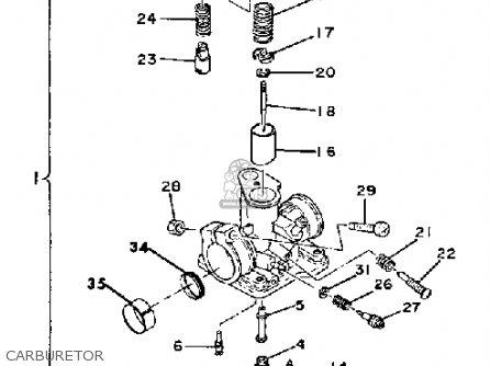 yamaha qt50 2g 1980  1981 parts list partsmanual partsfiche 1985 Yamaha Grasshopper Yamaha QT50 Parts