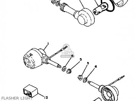yamaha qt50 2g 1980  1981 usa parts list partsmanual partsfiche