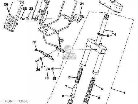 yamaha qt50 2h 1980  1981 parts list partsmanual partsfiche