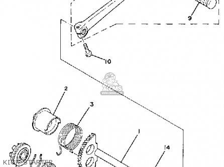 yamaha qt50 2h 1980  1981 usa parts list partsmanual partsfiche