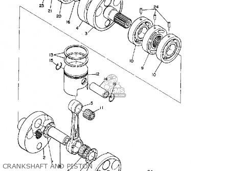 Yamaha R3 1969 Usa Crankshaft And Piston