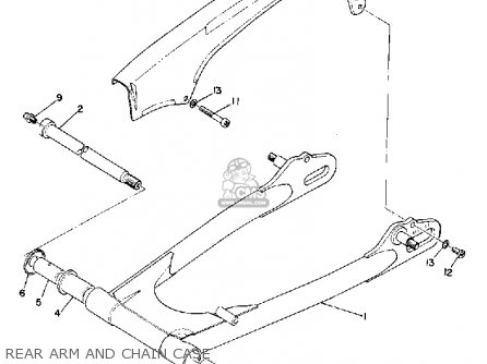 Yamaha R3 1969 Usa Rear Arm And Chain Case