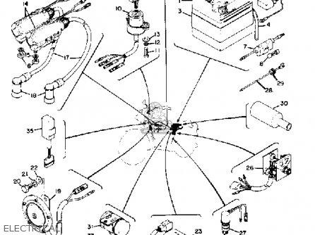 yamaha rd 200 wiring diagram yamaha rd250 1974 usa parts list partsmanual partsfiche #10