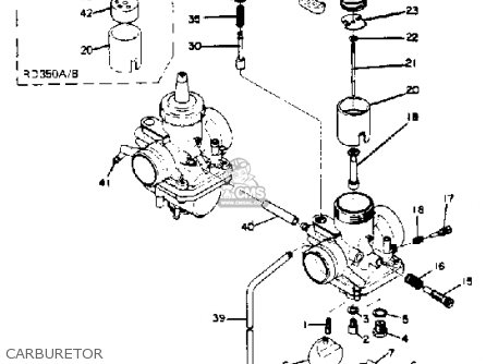 yamaha rd350 1973 usa parts lists and schematics