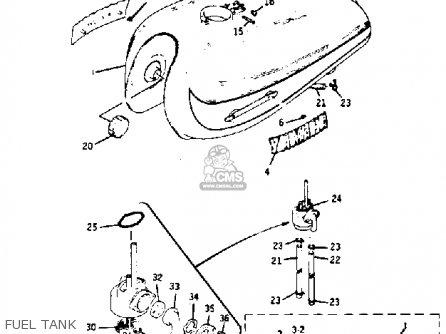 Yamaha Rd350 1973 Usa Fuel Tank