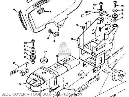 Yamaha Rd350 1973 Usa Side Cover - Tool Box - Battery Box
