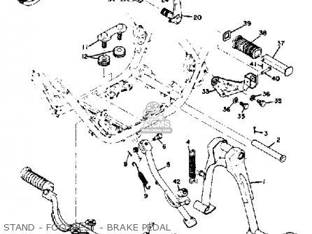 Yamaha Rd350 1973 Usa Stand - Footrest - Brake Pedal