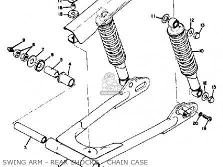 Yamaha Rd350 1973 Usa Swing Arm - Rear Shocks - Chain Case