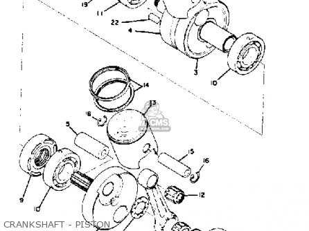 Yamaha Rd350 1973 1975 Crankshaft - Piston