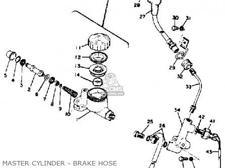 Yamaha Rd350 1973 1975 Master Cylinder - Brake Hose