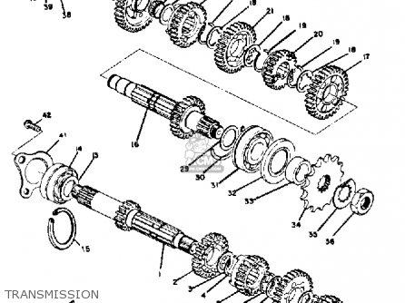 Yamaha RD350 1974 USA parts lists and schematics