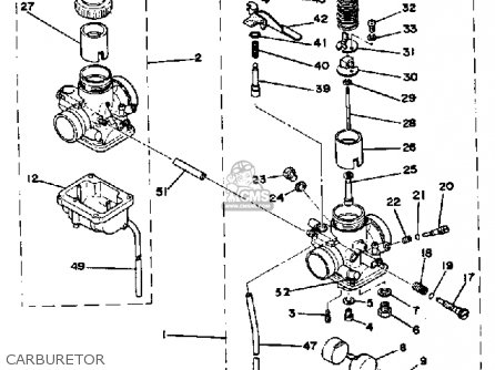 Yamaha Rd400 1978 Usa Carburetor