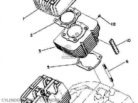 Yamaha Rd400 1978 Usa Cylinder Head - Cylinder