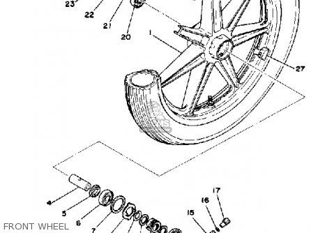 Yamaha Rd400 1978 Usa Front Wheel